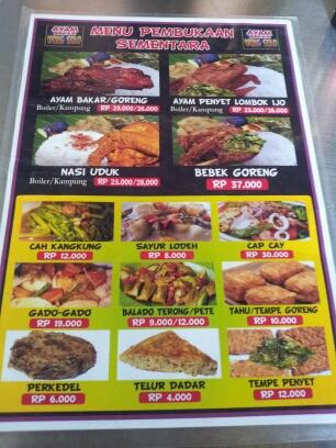 Ayam Menu Ayam Wong Solo